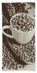 Vintage Coffee Art. Stimulant Hand Towel