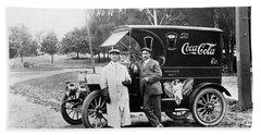 Vintage Coke Delivery Truck Hand Towel