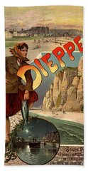 Vintage Dieppe Advertisement Hand Towel by Andrew Fare