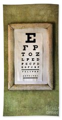 Vintage Eye Chart Bath Towel