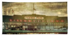 Vintage Fenway Park - Boston Bath Towel by Joann Vitali