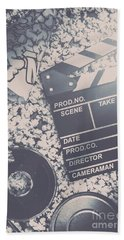 Vintage Film Production Bath Towel