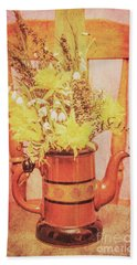 Vintage Fine Art Still Life With Daffodils Bath Towel