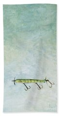 Vintage Fishing Lure Hand Towel by Stephanie Frey