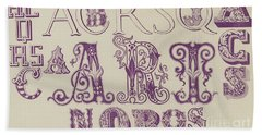 Vintage Fonts    Examples Of Letters  Bath Towel