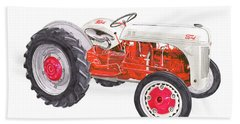 Bath Towel featuring the painting Vintage Ford Tractor 1941 by Jack Pumphrey