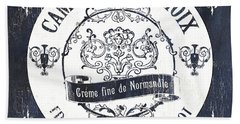 Vintage French Cheese Label 3 Bath Towel