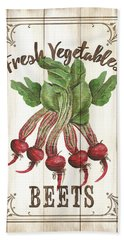 Bath Towel featuring the painting Vintage Fresh Vegetables 1 by Debbie DeWitt