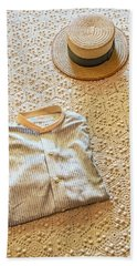 Bath Towel featuring the photograph Vintage Golfer's Hat And Shirt by Gary Slawsky