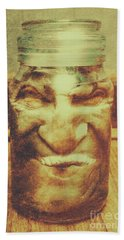 Vintage Halloween Horror Jar Bath Towel