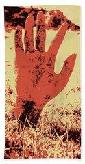Vintage Horror Poster Art  Hand Towel