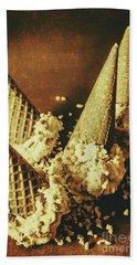 Vintage Ice Cream Cones Still Life Bath Towel