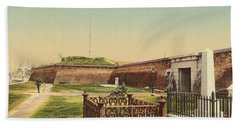Vintage Image Of Fort Moultrie Hand Towel