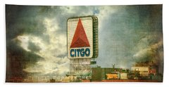 Vintage Kenmore Square Citgo Sign - Boston Red Sox Bath Towel by Joann Vitali