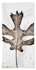 Vintage Leaf Hand Towel