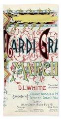 Vintage Mardi Gras March Poster Bath Towel