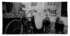 Vintage Messenger Boy On Bike - Texas - 1913 Hand Towel