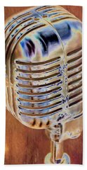 Vintage Microphone Bath Towel by Pamela Williams