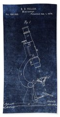 Vintage Microscope Patent Hand Towel