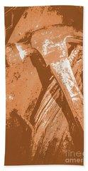 Vintage Miners Hammer Artwork Hand Towel