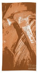 Vintage Miners Hammer Artwork Bath Towel