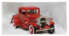 Vintage Model Fire Chiefcar Hand Towel by Linda Phelps
