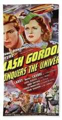 Vintage Movie Posters, Flash Godon Conquers The Universe Hand Towel