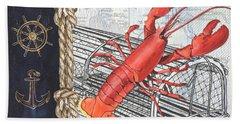 Vintage Nautical Lobster Hand Towel