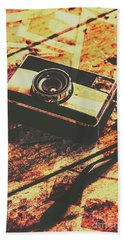 Vintage Old-fashioned Film Camera Hand Towel