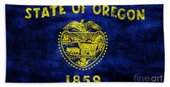 Vintage Oregon Flag Hand Towel by Jon Neidert