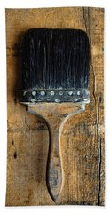 Vintage Paint Brush Bath Towel
