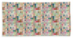 Hand Towel featuring the photograph Vintage Patchwork Quilt by Peggy Collins