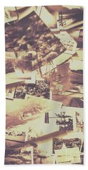 Vintage Photo Design Abstract Background Hand Towel