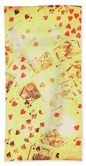 Vintage Poker Background Bath Towel