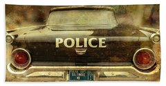 Hand Towel featuring the photograph Vintage Police Car - Baltimore, Maryland by Marianna Mills