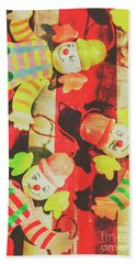 Vintage Pull String Puppets Hand Towel