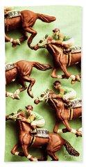 Vintage Racehorse Art Hand Towel