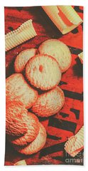 Vintage Rich Butter Shortcake Cookies Bath Towel
