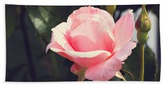 Hand Towel featuring the photograph Vintage Rose by Rebecca Davis