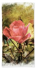 Vintage Rose Bath Towel