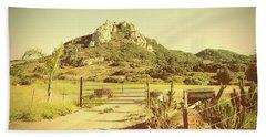 Vintage San Luis Obispo California Seven Sisters  Hand Towel