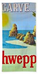 Vintage Schweppes Algarve Mosaic Hand Towel