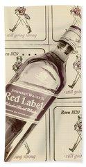 Vintage Scotch Whisky Pub Artwork Bath Towel