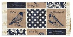 Vintage Songbirds Patch Hand Towel