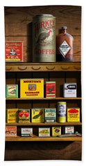 Vintage Spice Tins 2 - Nostalgic Spice Rack - Americana Kitchen Art Decor  Hand Towel