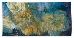 Vintage Still Life Bouquet Painting Bath Towel