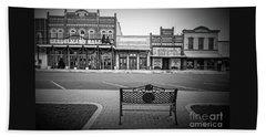 Vintage Street View Bath Towel