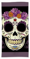 Vintage Sugar Skull And Roses Hand Towel
