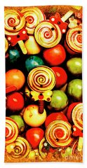 Vintage Sweets Store Hand Towel