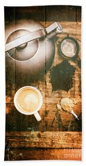 Vintage Tea Crate Cafe Art Bath Towel